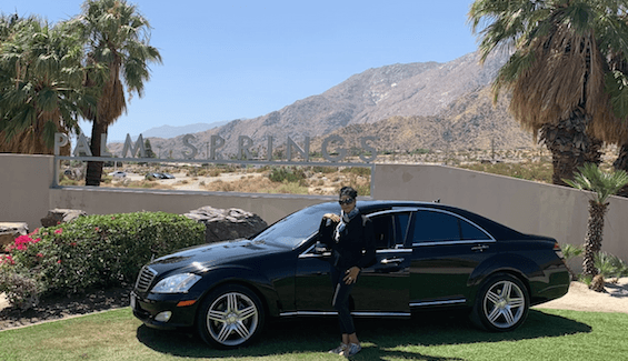 Palm Springs limo service Mercedes